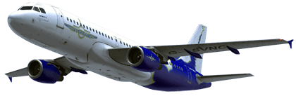Airbus A320 in SevernAir colours